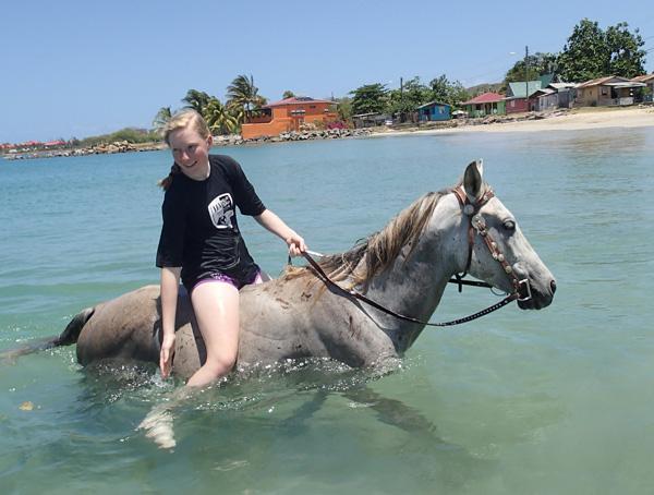 St lucia lehua parker for Where to go horseback riding near me